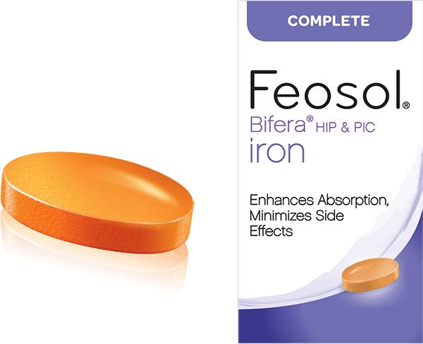 Feosol Complete box and pill