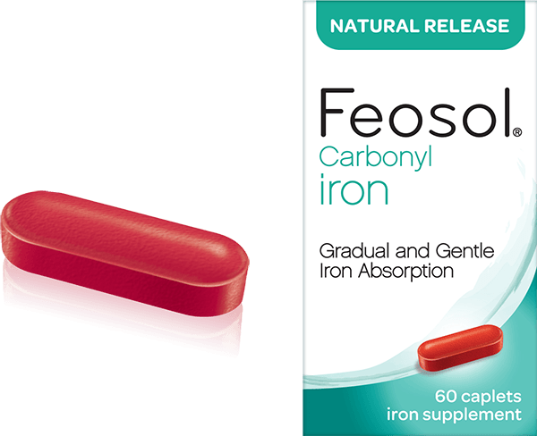 Feosol Natural Release box and pill