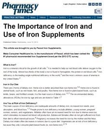 importance of iron